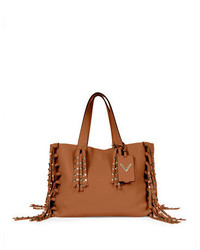 C rockee studded fringe tote bag tan medium 650000