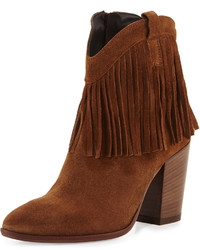 Andre Assous Farley Fringe Suede Bootie Brown
