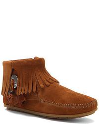 Minnetonka Concho Feather Side Zip Boot