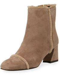 Stuart Weitzman On The Fringe Suede Ankle Boot