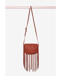 Factory Dixie Fringe Suede Crossbody Bag