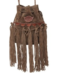 El vaquero sachet fringed suede shoulder bag medium 737086