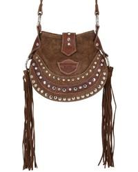 El vaquero texi studded fringed suede shoulder bag medium 798171