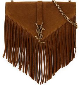 0da1a8d11124 ... Brown Fringe Suede Crossbody Bags Saint Laurent Monogram Medium Suede Fringe  Crossbody Bag Tan ...