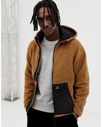 Brown Fur Bomber Jacket