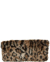 Brown Fur Clutch