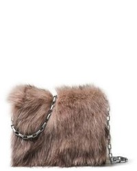 Michl kors collection small fox fur leather clutch medium 775577