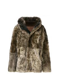 Yves Salomon Army Fox Fur And Lamb Fur Coat