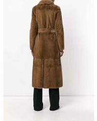 Manzoni 24 Fur Belt Coat