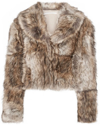 Masha cropped faux fur coat light brown medium 5258874