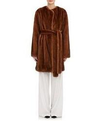 The Row Narston Fur Coat Brown