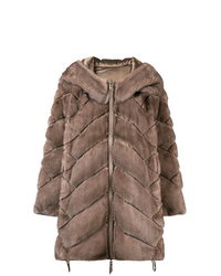 Liska Padded Hooded Coat