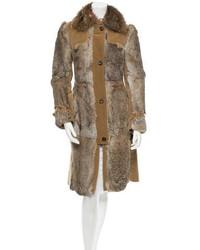 Dolce & Gabbana Rabbit Fur Coat