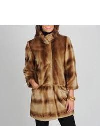 Tahari ASL Tahari Kris Mink Vegan Fur Coat
