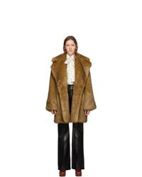 Gucci Tan Faux Fur Coat