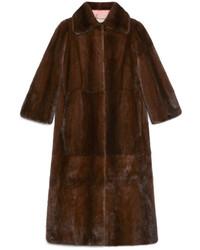Gucci Tiger Intarsia Mink Coat