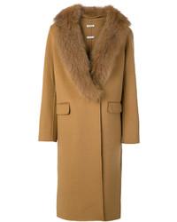 P.A.R.O.S.H. Fur Trim Coat