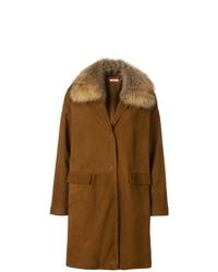 P.A.R.O.S.H. Raccoon Fur Collar Coat