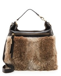 Brown Fur Crossbody Bag