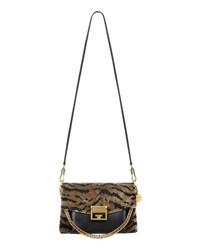 Givenchy Gv3 Zebra Jacquard Leather Crossbody Bag