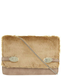 Rose faux fur twistlock crossbody bag medium 117649