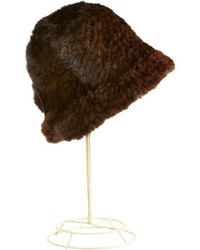 Surell Mink Fur Cloche Hat