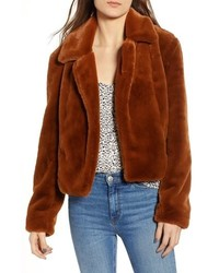 BLANKNYC Cropped Faux Fur Jacket