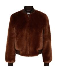 Elizabeth and James Ellington Knit Trimmed Faux Fur Bomber Jacket