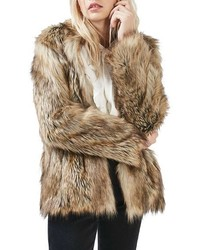 Topshop Kate Faux Fur Coat