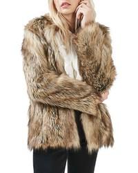 Topshop Kate Faux Fur Coat
