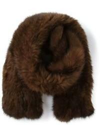 Brown Fur Scarf