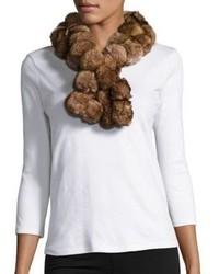Diana Rosh Rabbit Fur Pom Scarf