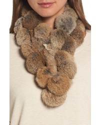 Love Token Genuine Rabbit Fur Scarf