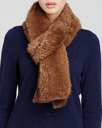 Maximilian Furs Maximilian Knitted Mink Scarf