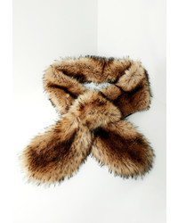 Missguided Brown Faux Fur Scarf