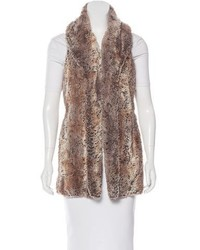 Faux fur longline vest medium 3831858