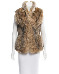 Fur mock collar vest medium 3831853