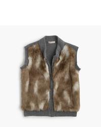 J.Crew Girls Faux Fur Vest