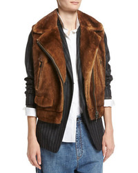 Mink fur moto vest medium 4400753