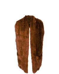 Yves Salomon Rabbit Fur Backless Gilet