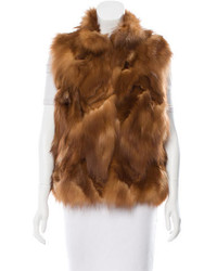Sherry cassin sable fur funnel collar vest medium 3831866