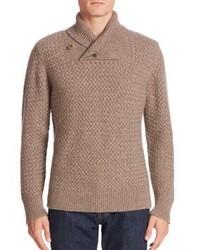 Billy Reid Basket Weave Cashmere Sweater