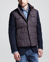 Brunello Cucinelli Donegal Tweed Puffer Vest