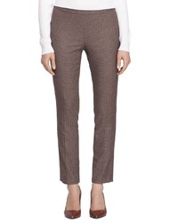 Brooks brothers petite lucia fit slim check trousers medium 322358