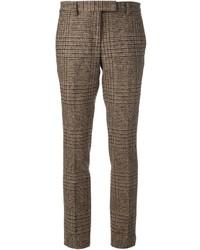 Incotex checked tailored trousers medium 120036