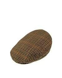 Bailey hats lord tweed flat cap brown medium 84298