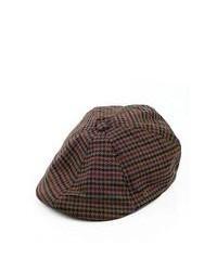 Kangol Hats 504 Plaid Flat Cap Olive