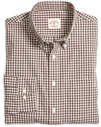 Brown Gingham Long Sleeve Shirt