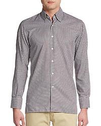 Regular fit gingham cotton sportshirt medium 216850