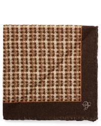 Canali Check Wool Pocket Square